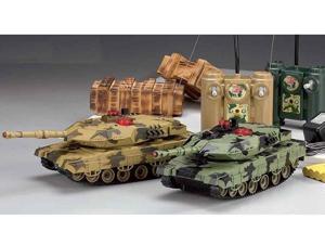 2 PCS M1A2 Abrams Radio Controlled Infrared COMBAT IR RC Battle Tank
