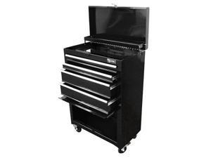Excel Hardware Roller Metal Tool Chest 2pcs Storage Drawers With Casters Black