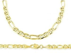 14k Yellow Gold Figaro Gucci Necklace Figarucci Chain Solid Link 4mm - 18 inch