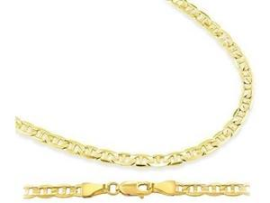 14k Yellow Gold Mariner Chain Solid Necklace Links 2.1mm - 24 inch