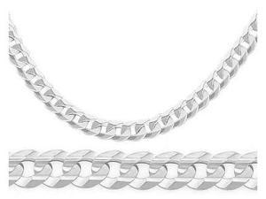 Link Bracelet 14k Solid White Gold Curb Cuban Mens 4.6mm 7.5 inches