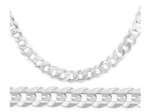 14k White Gold Bracelet Cuban Curb Solid Link Mens 7.1mm 8.5 inches