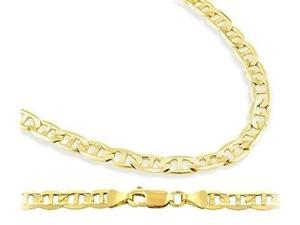 Solid 14k Yellow Gold Bracelet Gucci Mariner Link 4.3mm 7.5 inches