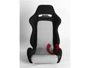 CPA1013 Black and Grey Cloth Racing Seats