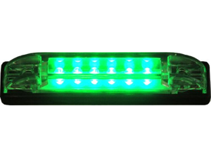 Color LED Utility Strip Green  4""