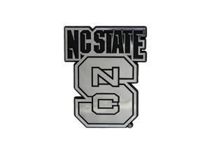 North Carolina State Wolfpack Silver Auto Emblem