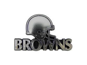 Cleveland Browns Silver Auto Emblem
