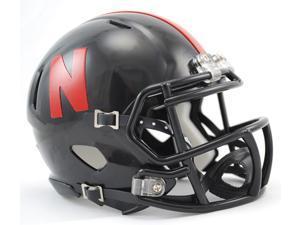 Nebraska Huskers Replica Mini Helmet w/ Z2B Mask - Alternate Black