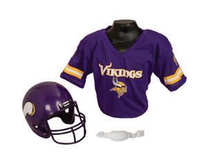 Minnesota Vikings Football Helmet & Jersey Top Set