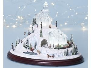 """12"""" Amusements LED Lighted Animated and Musical Christmas Village Decoration"""