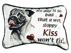 """Set of 2 """"No Day Is So Bad"""" Dog Decorative Throw Pillows 9"""" x 12"""""""