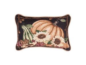 "Set of 2 Autumn Pumpkin Decorative Throw Pillows 9"" x 12"""