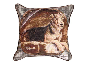 "Airdale Terrier Dog Decorative Throw Pillow 17"" x 17"""