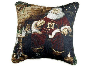 "Santa's Treats Decorative Christmas Throw Pillow 17"" x 17"""