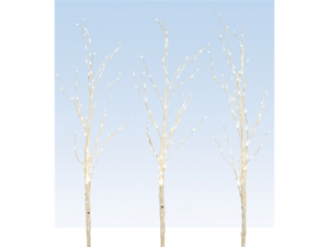 "3 LED Lighted Enchanted Garden Artificial Standing Birch Branches 56"" - Warm Wht"