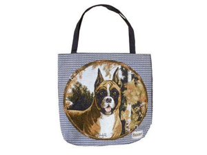 "Boxer Dog Decorative Shopping Tote Bag 17"" x 17"""