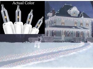 Set of 150 Clear Path-Cicles Mini Christmas Lights - White Wire