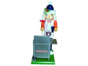 "12"" NCAA Auburn Tigers Sports Tailgating Wooden Christmas Nutcracker"