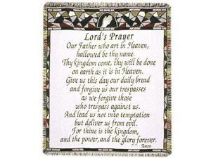 "The Lord's Prayer Religious Afghan Throw Blanket 48"" x 60"""