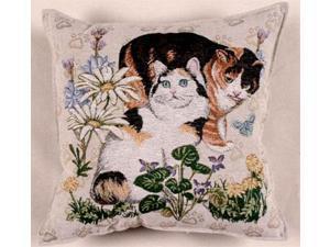 """Meow Mix"" Cats Decorative Accent Throw Pillow 17"" x 17"""