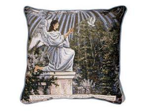 """Garden Angel"" Exodus 23:20 Religious Accent Throw Pillow 17"" x 17"""