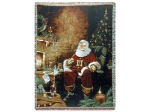 "Santa's Treats Christmas Tapestry Throw Blanket 50"" x 70"""