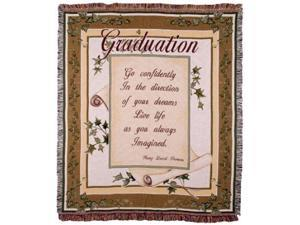 """Live Life..."" Thoreau Graduate Tapestry Throw Blanket 50"" x 60"""