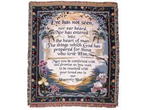 """Heavenly Home Floral Tapestry Throw Blanket 50"""" x 60"""""""