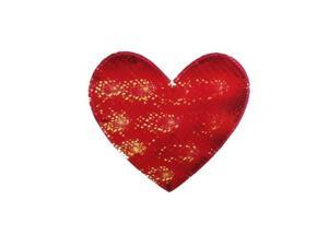 """12"""" Lighted Valentine's Day Shimmering Red Heart Window Silhouette Decoration"""