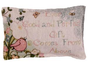 "Set of 2 Religious ""Gift From Above"" Decorative Tapestry Throw Pillows 12"""