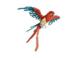 """32"""" Life-Size Tropical Paradise Blue and Orange Flying Parrot Bird"""