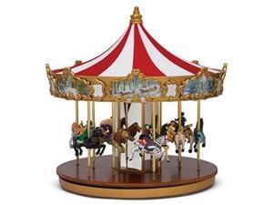 Mr. Christmas World's Fair Animated Musical Classic Carousel Ride Decoration #79213