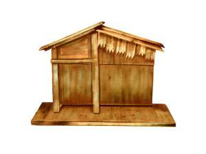 "30"" Wooden Religious Christmas Nativity Stable"