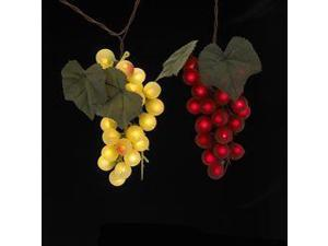 Tuscan Winery Grape Cluster Light Set- Red and Green 4 Bunches