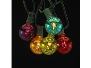 Multi-colored Glass Ball Light Set- 10 Lights on the Wire