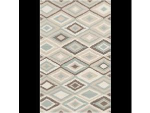 2.5' x 8' Adamas Undulatis Beige, Gray, and Moss Green Outdoor Throw Rug