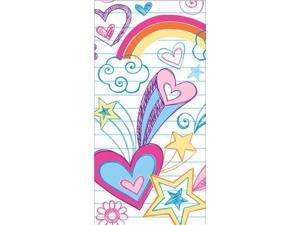 Pack of 120 Vibrant Notebook Doodle Printed Swankies Hanky Pocket Facial Tissues