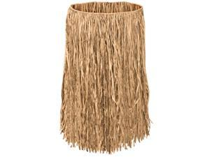 Club Pack of 12 Tropical Tan Adult Raffia Extra Sized Hula Skirts 36""