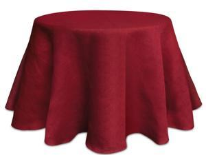Pack of 2 Elegant Red Textured Christmas Table Cloth 96""