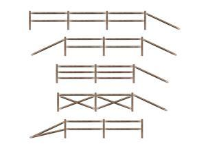 Club Pack of 66 Split Rail Fence Western Themed Party Wall Decorations 6.5'