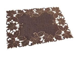 Pack of 4 Lavish Maple Leaves Thanksgiving Table Placemats 18.25""