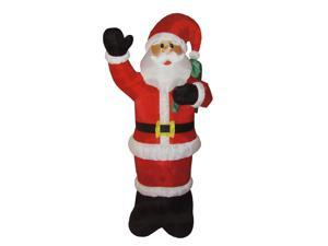 8' Animated Inflatable Lighted Standing Santa Claus Christmas Yard Art Decoration