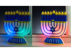 """6"""" Battery Operated Color Changing LED Chanukah Hanukkah Window Decoration"""