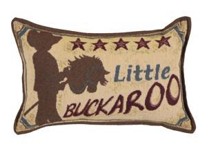 """Set of 4 Country Western Little Buckaroo Decorative Tapestry Throw Pillows 12"""""""