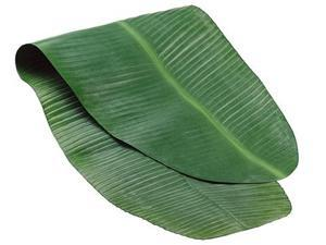 """54"""" x 17.5"""" Green Decorative Artificial Banana Leaf Spring Table Runner"""