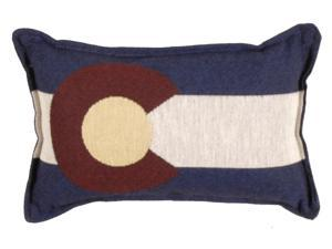 """Set of 4 State Flag of Colorado Rectangular Decorative Tapestry Throw Pillows 12"""""""