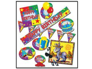 "Club Pack of 54 ""HAPPY BIRTHDAY"" Party Decoration Kit"