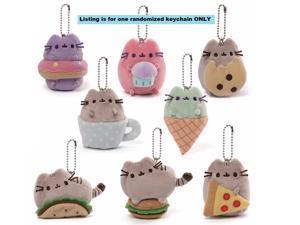 Pusheen Surprise Series One Snack Time Mini Plush Cat Figurine on Keychain