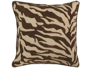 """18"""" Brown and Beige Hot Animal Print Decorative Down Throw Pillow"""