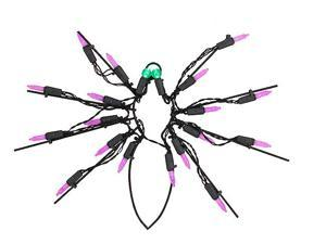 "12"" Battery Operated LED Lighted Spider Halloween Window Silhouette"